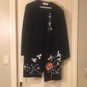 Gorgeous Long Length Embroidered Blazer